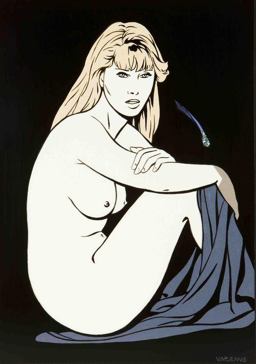 Blonde à la comète